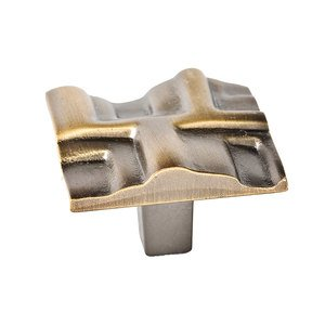 Du Verre Hardware - Die Cast Rio Square Knob in Antique Brass -AB