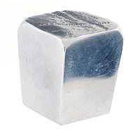 Du Verre Hardware - Die-Cast Aluminum ( Jeff Goodman ) by Jeff Goodman - Large Square Knob Deluxe in Polished Aluminum
